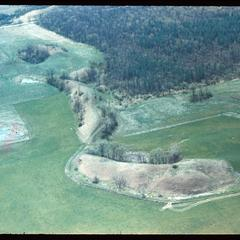 Aerial view of an esker