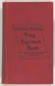 Pony specimen book and price list from Barnhart Bros. & Spindler, Incorporated