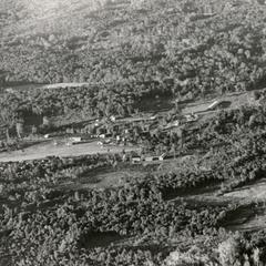 Aerial view of Houei Kong in Attapu Province