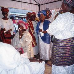 Celebrating the Ifaturoti wedding