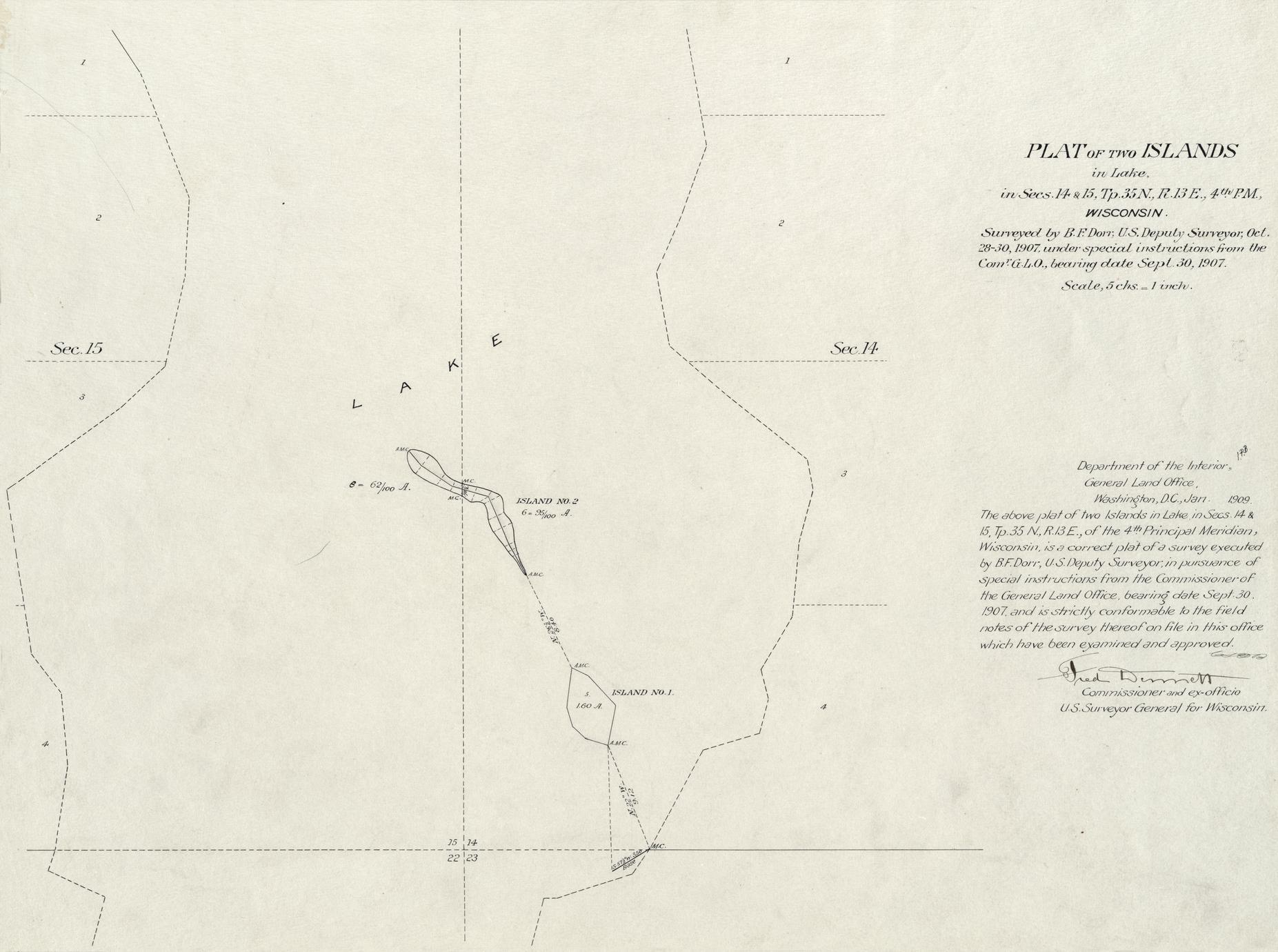 [Public Land Survey System map: Wisconsin Township 35 North, Range 13 East]