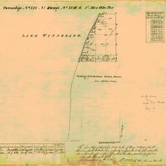 [Public Land Survey System map: Wisconsin Township 19 North, Range 18 East]