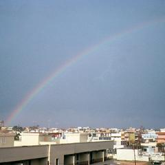 Rainbow over Haj Andalus, a Suburb of Tripoli