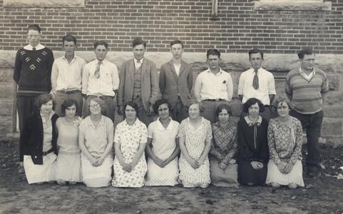 New Glarus High School senior class, 1928-29