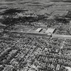 Aerial view of the Nash Motors plant