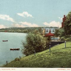 Lake Mendota boat house postcard
