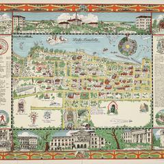Map, UW-Madison, 1937