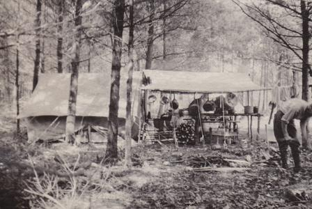 1918 Training camp - cook tent