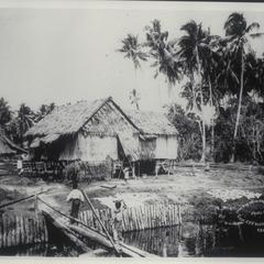 Moro town scene, Zamboanga, early 1900s