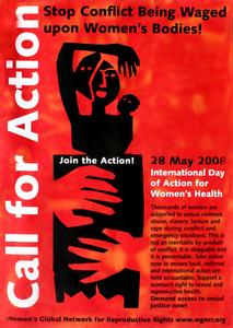 Call for action--stop conflict being waged upon women's bodies
