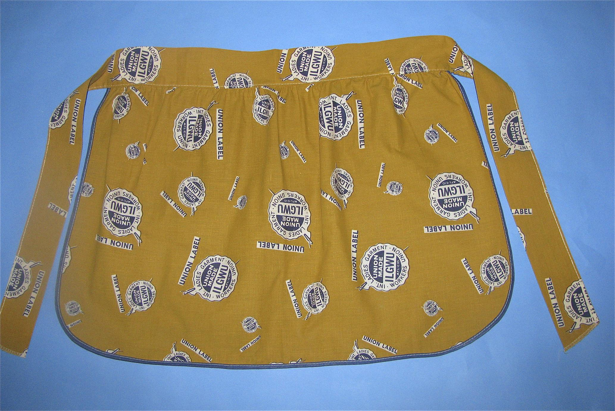 Mustard colored apron