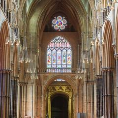 Lincoln Cathedral nave from the east