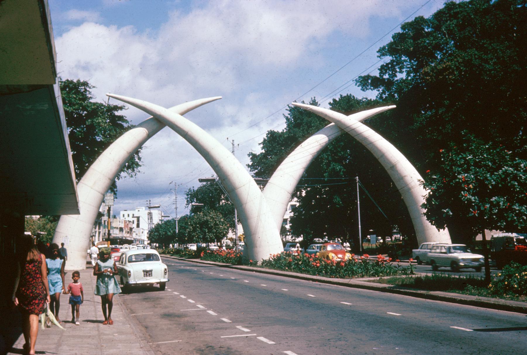 Crossed Elephant Tusks : Symbol of City of Mombasa