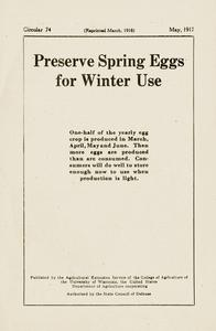 Preserve eggs for winter use