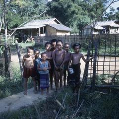 Children at an International Voluntary Services house