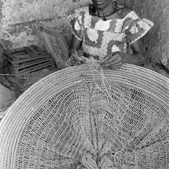 Woman Making a Fish Net