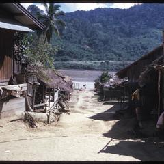 Yao village--streets with Mekong River