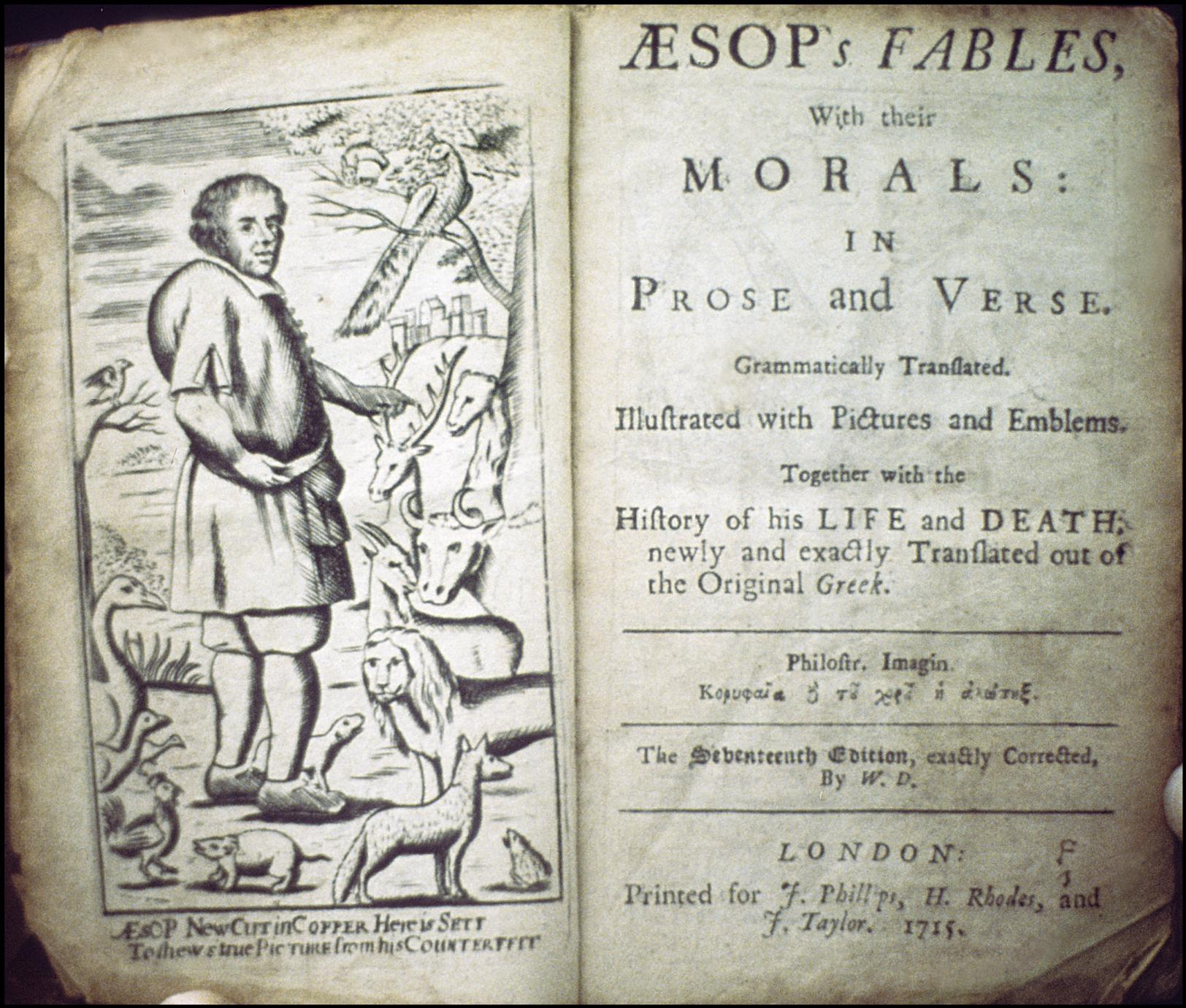 A List Of Fables And Their Morals aesop's fables with their morals in prose and verse