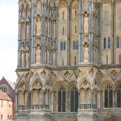Wells Cathedral exterior west facade