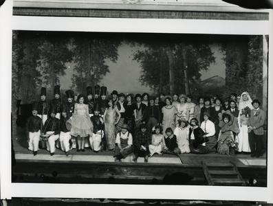 Manual Arts Players group photograph onstage
