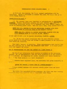 Undergraduate Pre-Strike Bulletin #2