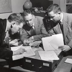 Professor Frederic Cassidy working on DARE