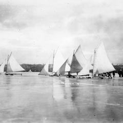 Ice boating at the Ice Carnival
