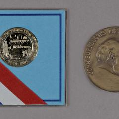 50th Anniversary of Wilderness medal and The John Burroughs Medal