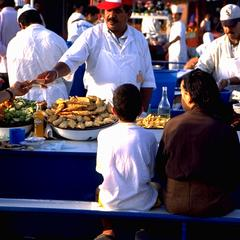 Open-Air Restaurant at Djemaa el-Fna Square