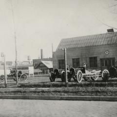 Jeffery automobiles outside the Jeffery plant