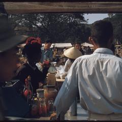 Morning market--soft drinks vendor