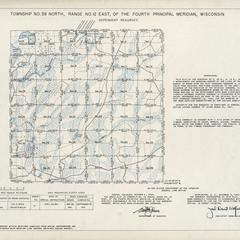 [Public Land Survey System map: Wisconsin Township 39 North, Range 12 East]