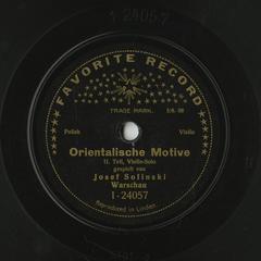 Orientalische Motive, II. Teil