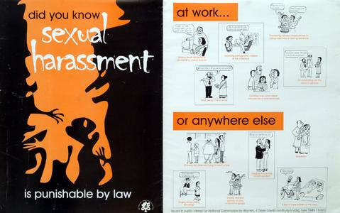 Sexual harassment is punishable by law