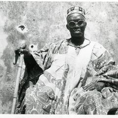 Chief Asagidigbi with cane