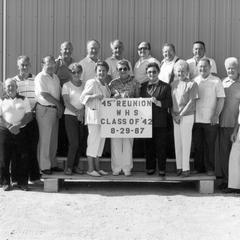Waterford High School Class of 1942 celebrates 45th Reunion