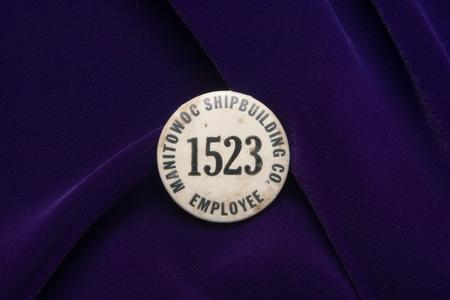 Manitowoc Shipbuilding Company employee button