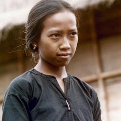 Khmu' girl in the village of Phou Luang Nyai in Houa Khong Province