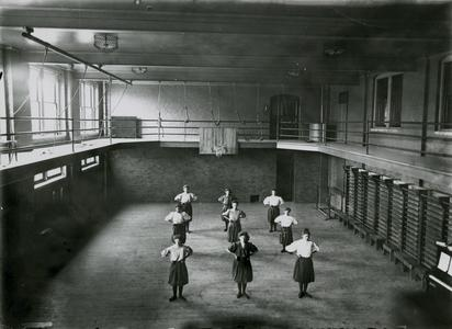 Women's gym class in Old Main