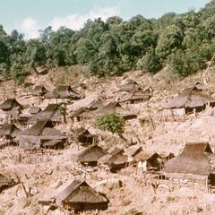 The Akha village of Sobloi in northwest Laos