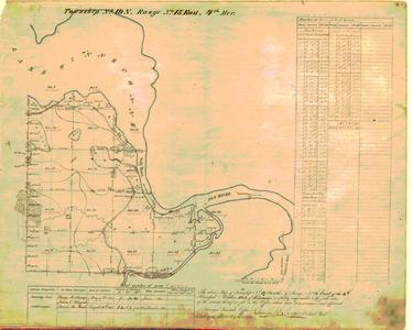[Public Land Survey System map: Wisconsin Township 19 North, Range 15 East]