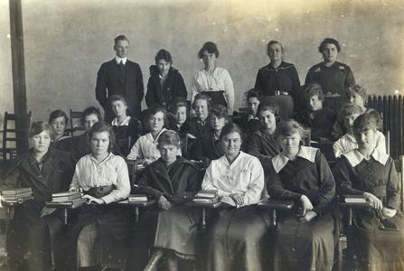 Students at River Falls Normal School, circa 1920
