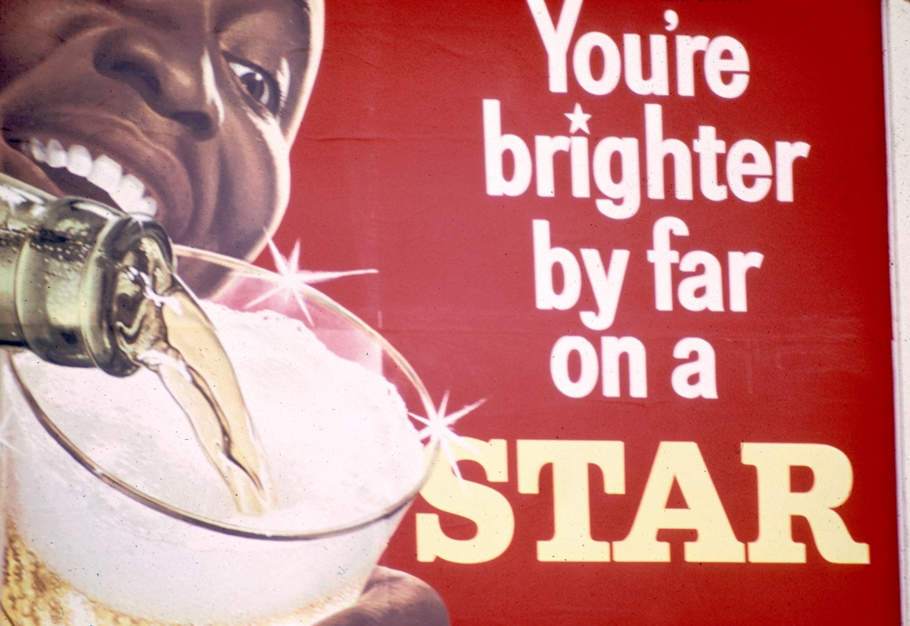 Advertisement for Star Beer, Produced in an Accra Brewery