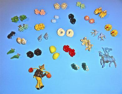 Twenty-two plastic earrings