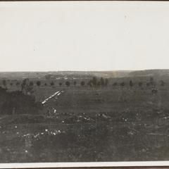 Blick von Chaumont gegen Azannes u. die Stellungen vor Verdun
