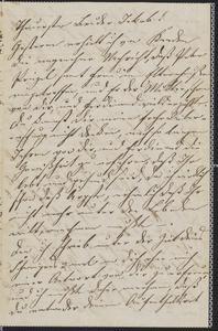 [Letter from Julie Sternberger to her brother, Jakob Sternberger, November 22, 1864]