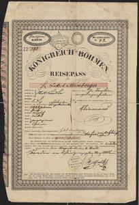 [Passport for Jakob Sternberger, March 26, 1840]