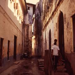 Typical Narrow Street in Zanzibar