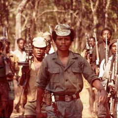 Marching Young Recruits of the Popular Resistance Movement for the Liberation of Angola