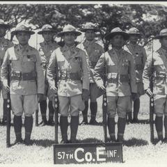 Chief of Infantry Combat Team, 57th Infantry, Co. E, 1938